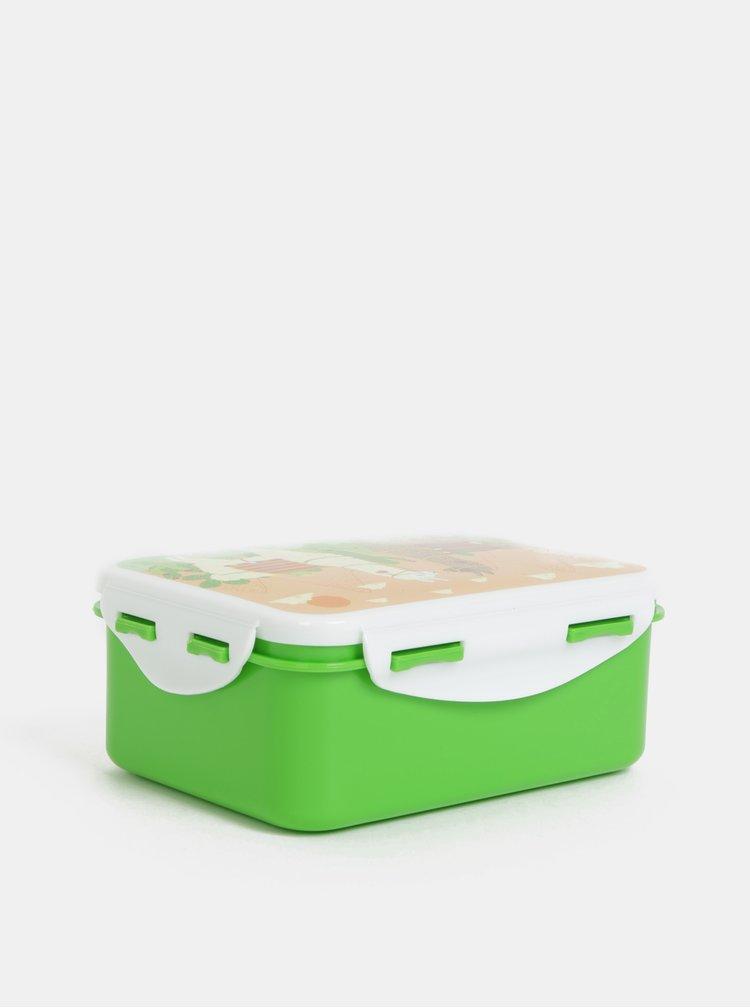 Zelený svačinový box s motivem lam Sass&Belle Lima Llama