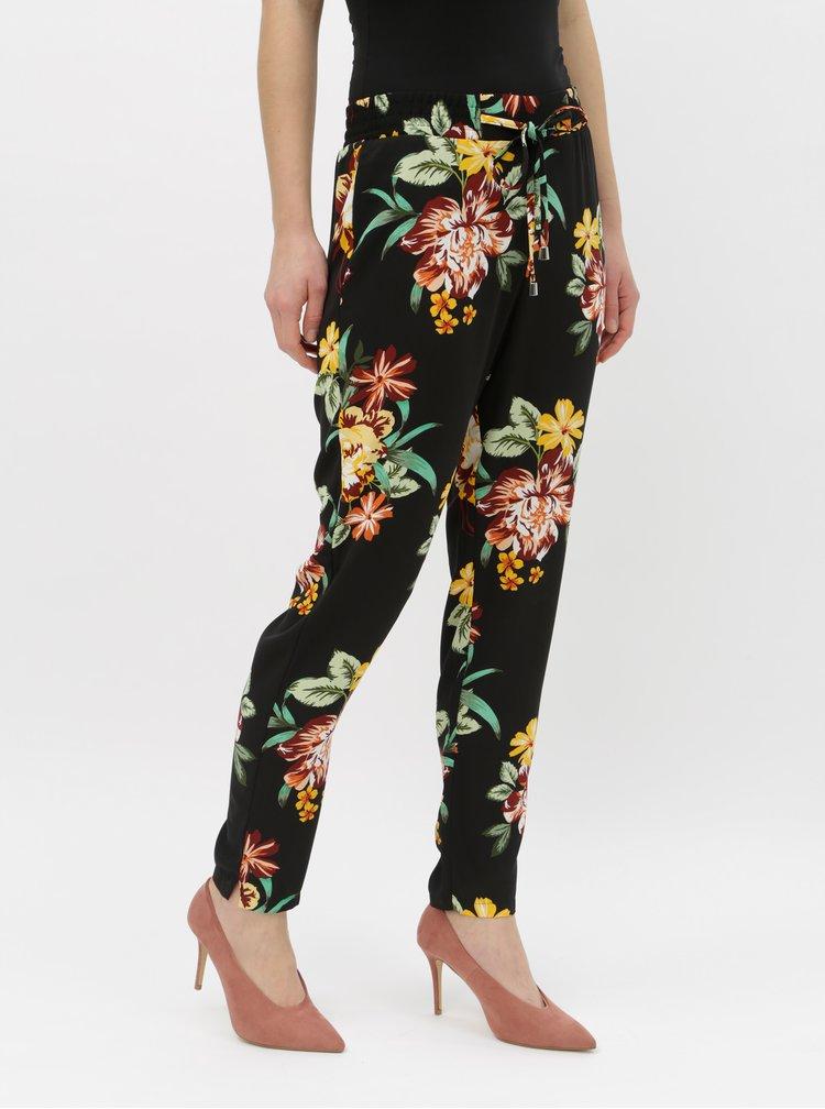 Černé květované kalhoty Dorothy Perkins
