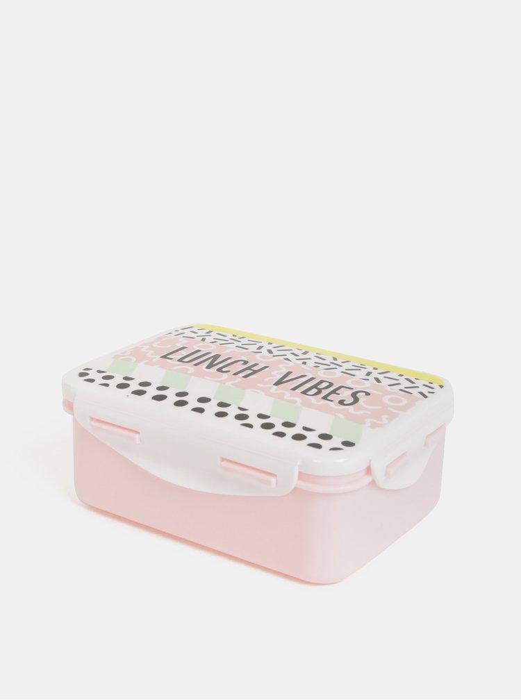 Cutie roz deschis pentru pranz cu motiv Sass&Belle Memphis Modern