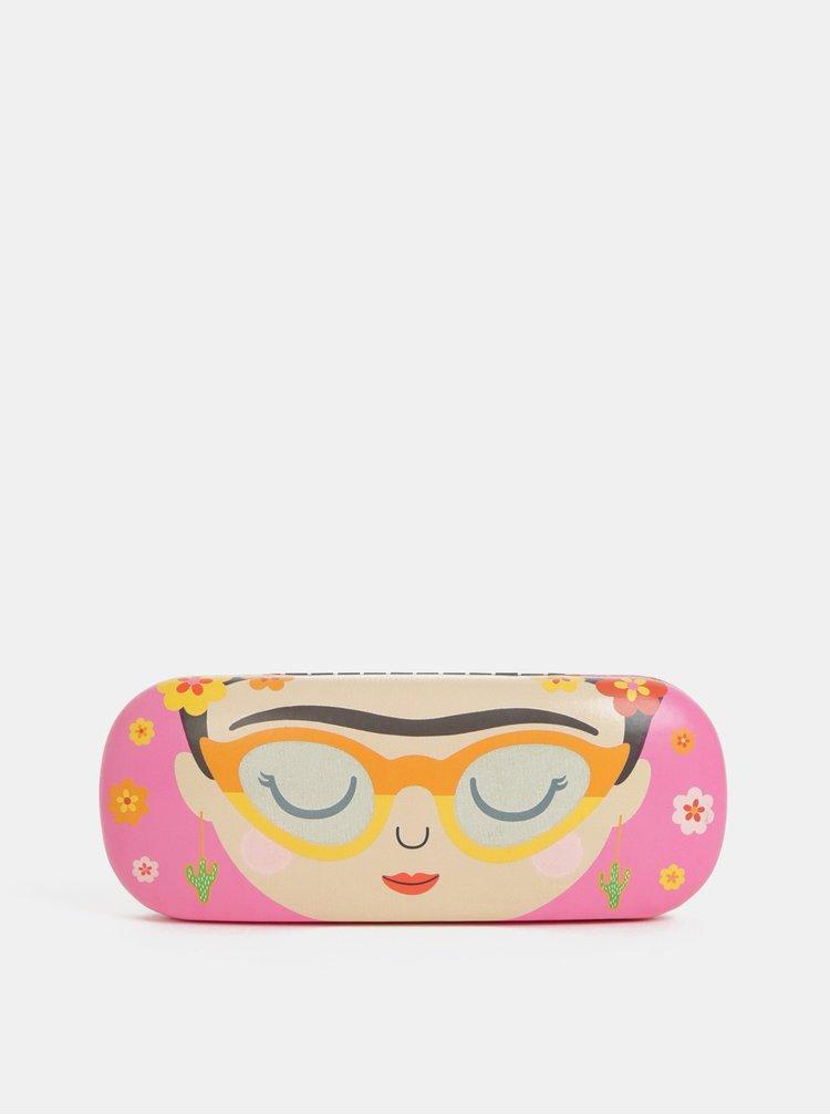 Růžové pouzdro na brýle s motivem Sass&Belle Boho Fiesta