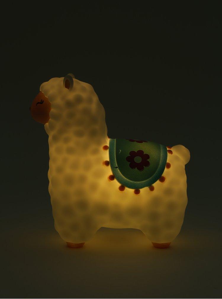 Lampa LED alba in forma de lama Sass&Belle Little Llama