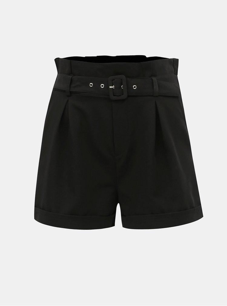 Pantaloni scurti negri cu talie inalta TALLY WEiJL Penessa