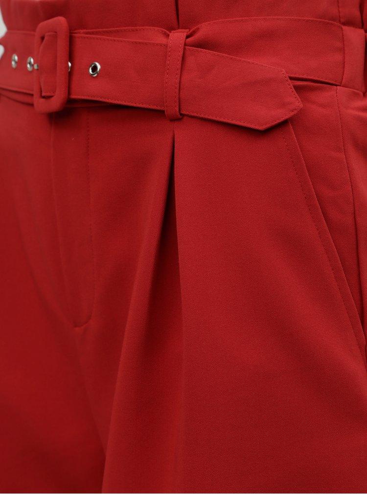 Červené kraťasy s vysokým pasem TALLY WEiJL Penessa