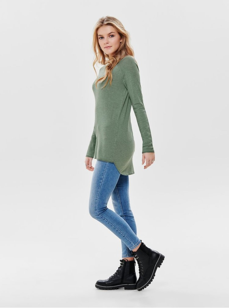 Pulover verde lejer ONLY Mila