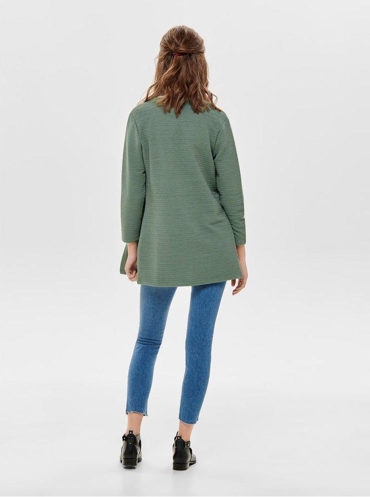Cardigan verde cu striatii ONLY Leco