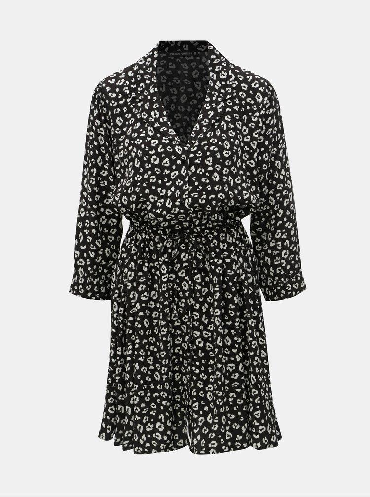 Rochie tip camasa neagra cu motiv leopard TALLY WEiJL Vilaury