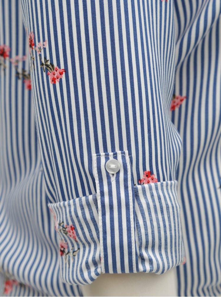 Camasa alb-albastru in dung cu nod TALLY WEiJL Viforu