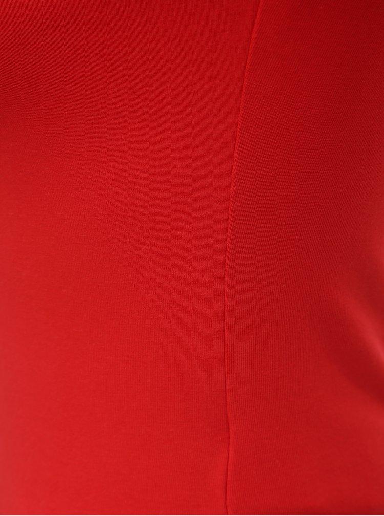 Tricou rosu cu barete pe decolteu TALLY WEiJL Libro