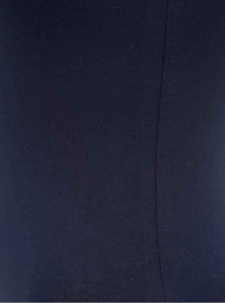 Tmavě modré tílko s pásky v dekoltu TALLY WEiJL Coleli