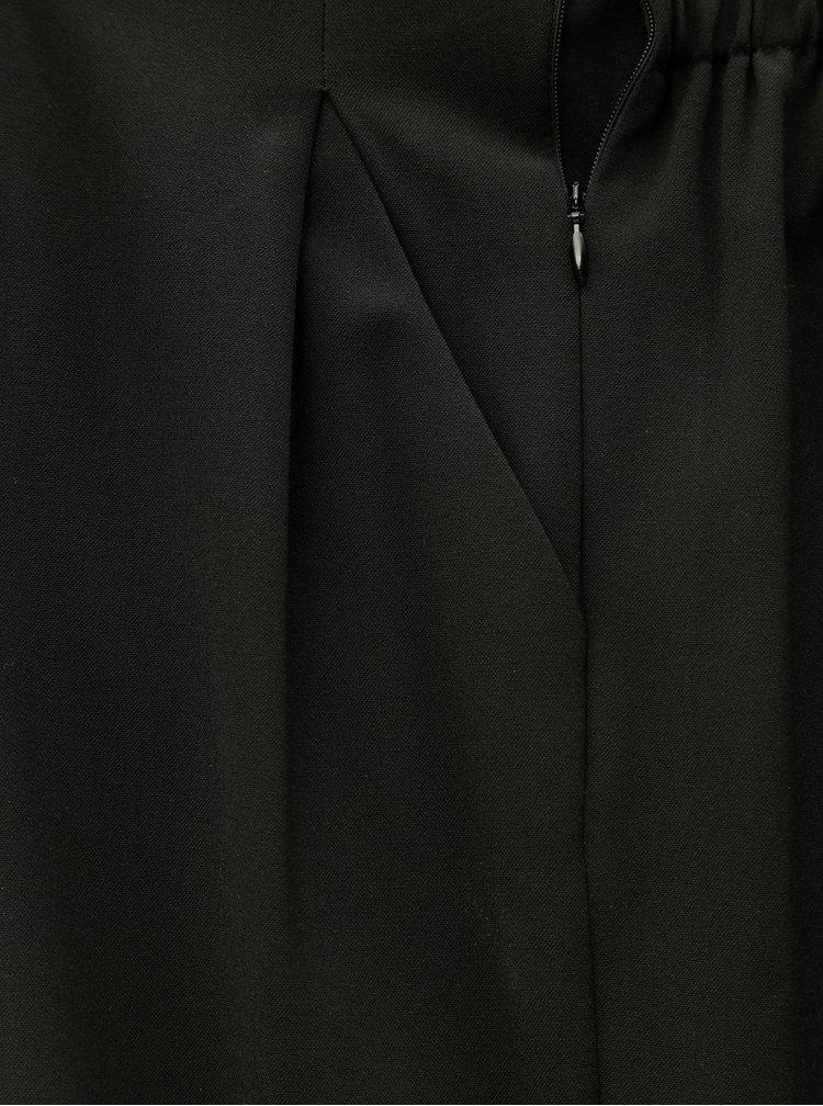 Čierne skrátené nohavice s vysokým pásom TALLY WEiJL Joaine