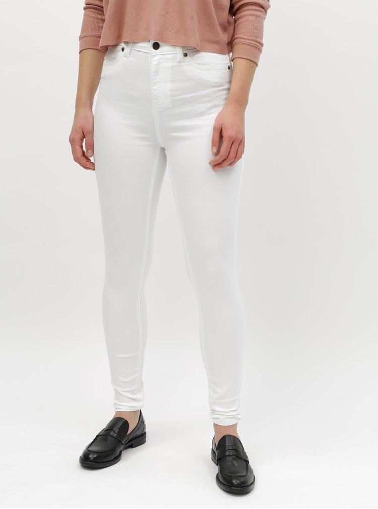 Bílé skinny džíny s vysokým pasem Noisy May Lexi
