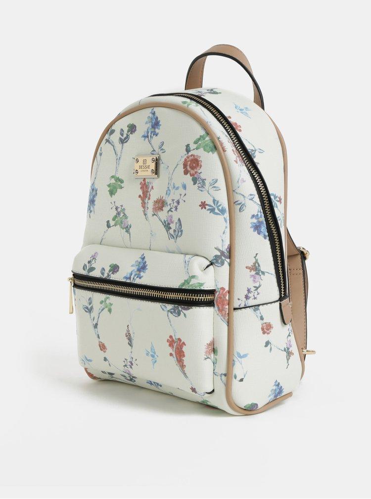 Krémový kvetovaný batoh Bessie London