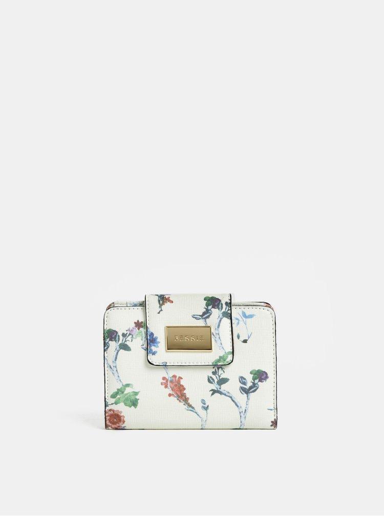 Krémová kvetovaná peňaženka Bessie London