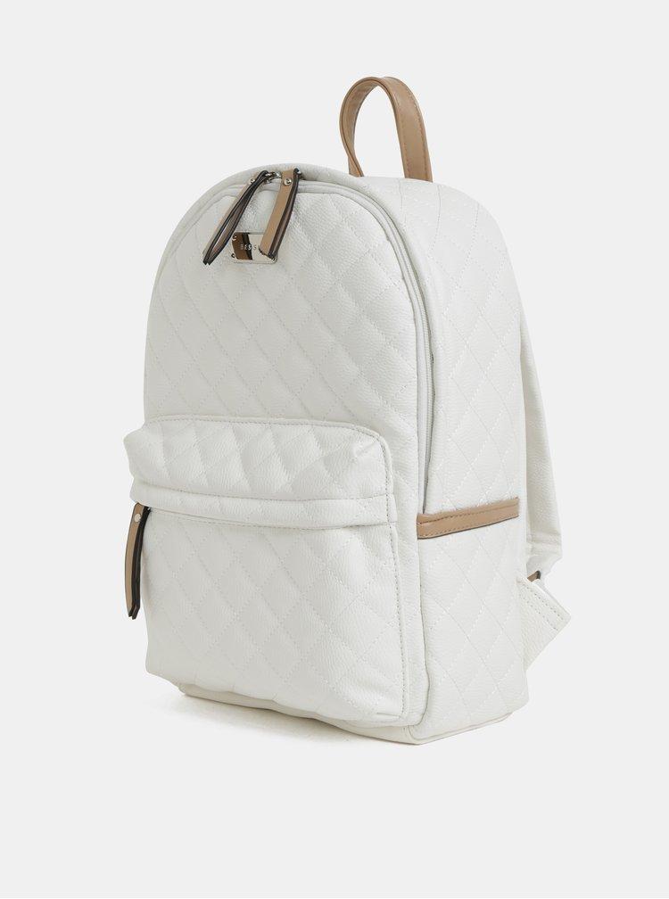 Bílý prošívaný batoh Bessie London