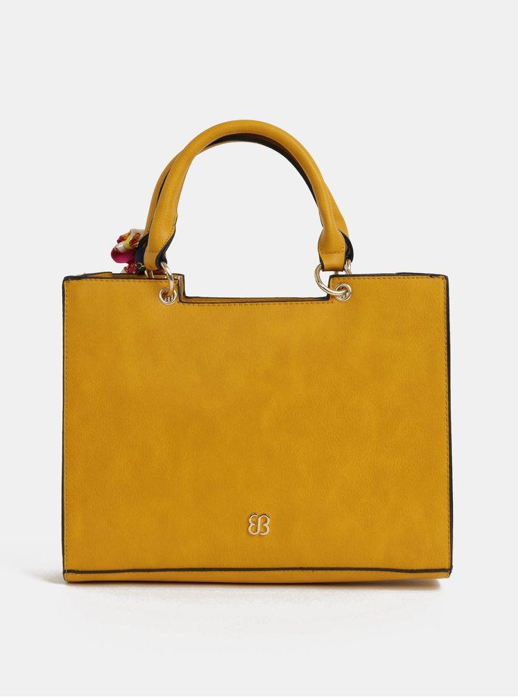 Horčicová kabelka so šatkou Bessie London
