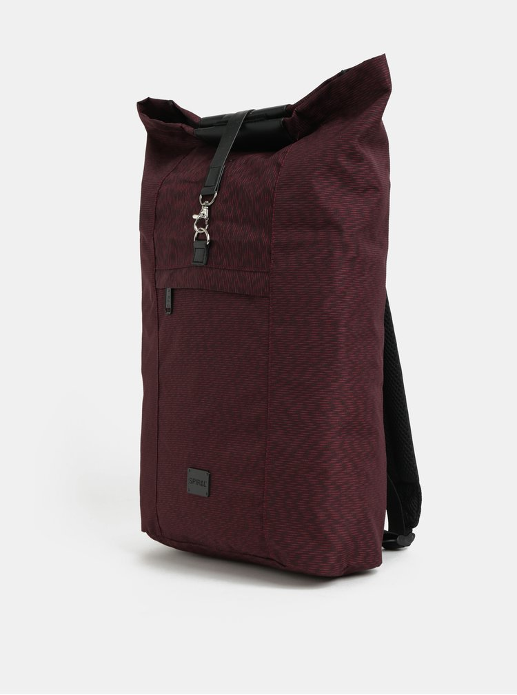 Vínový žíhaný batoh Spiral North 15 l