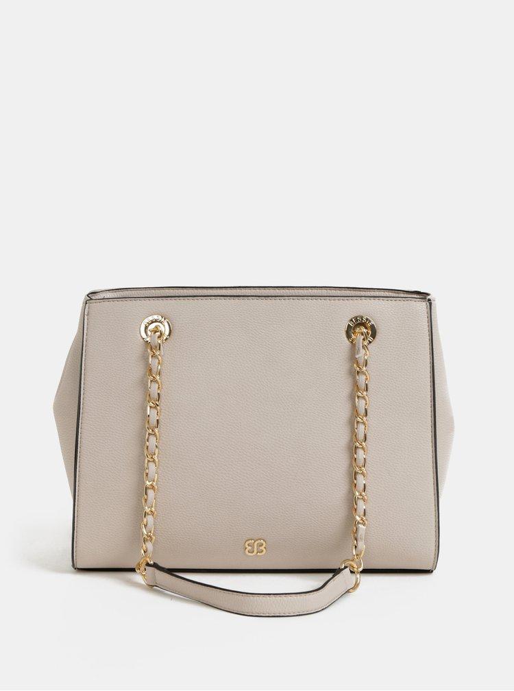 Béžová kabelka s ozdobnou aplikací Bessie London