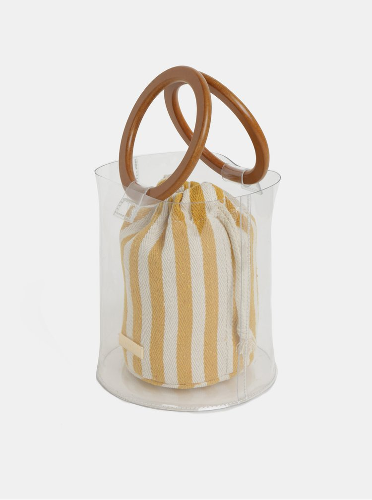 Geanta bucket transparenta 2 in 1 Bessie London