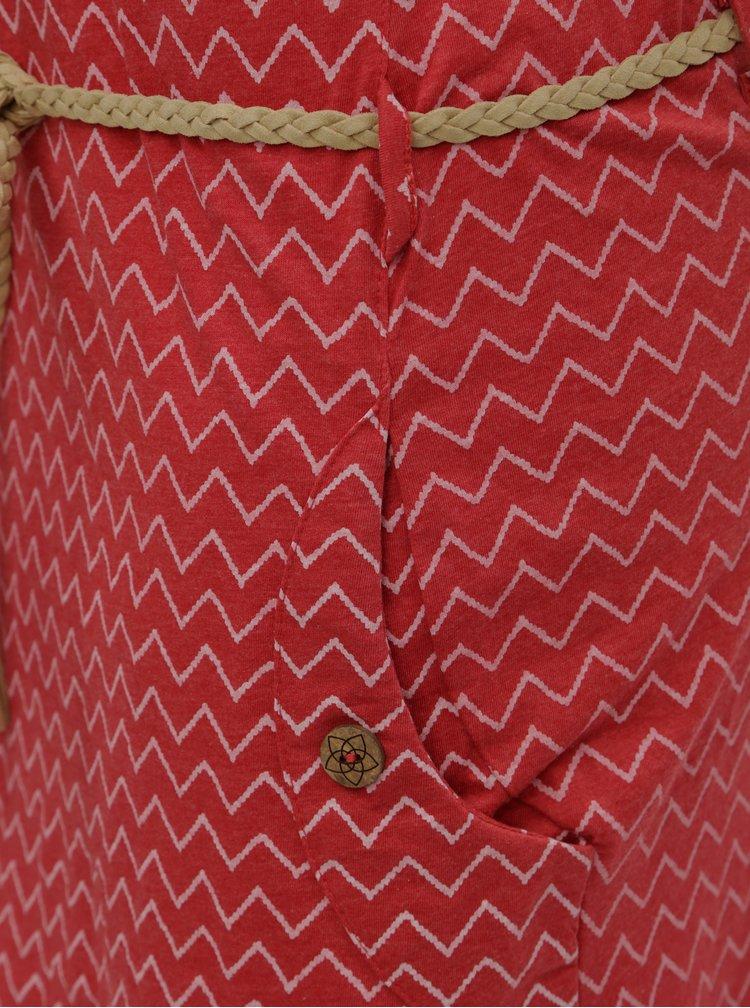 Rochie rosie cu model si buzunare Ragwear Tag