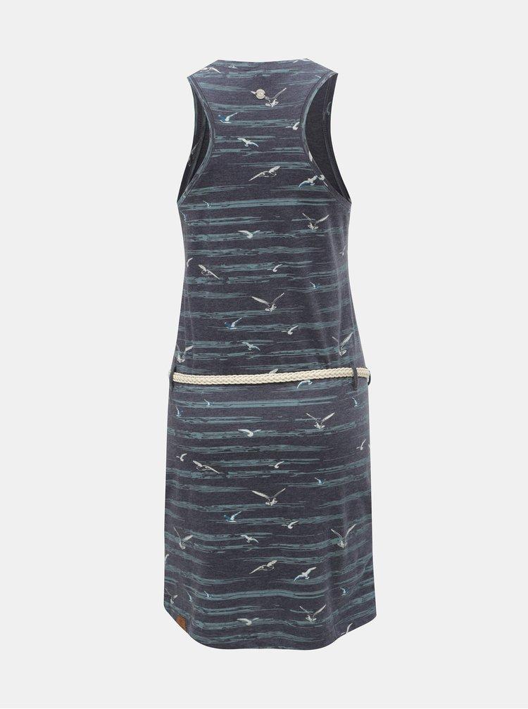 Tmavě modré šaty s kapsami Ragwear Kesy