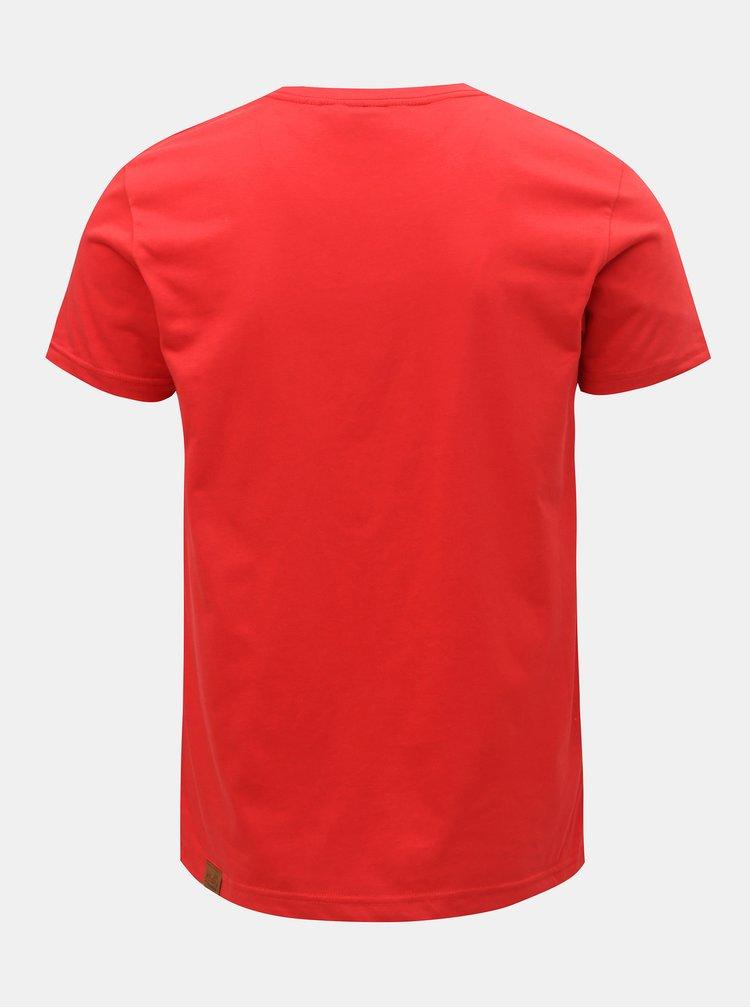 Tricou barbatesc rosu cu imprimeu Ragwear Charles