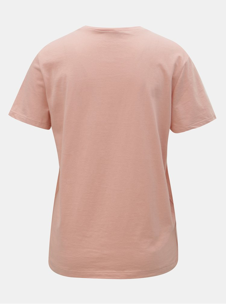 Tricou roz cu imprimeu ONLY Charlie