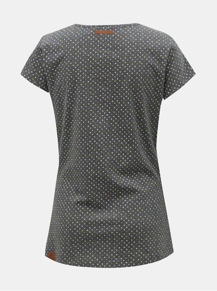 Tricou gri inchis cu buline de dama Ragwear Mint Dots