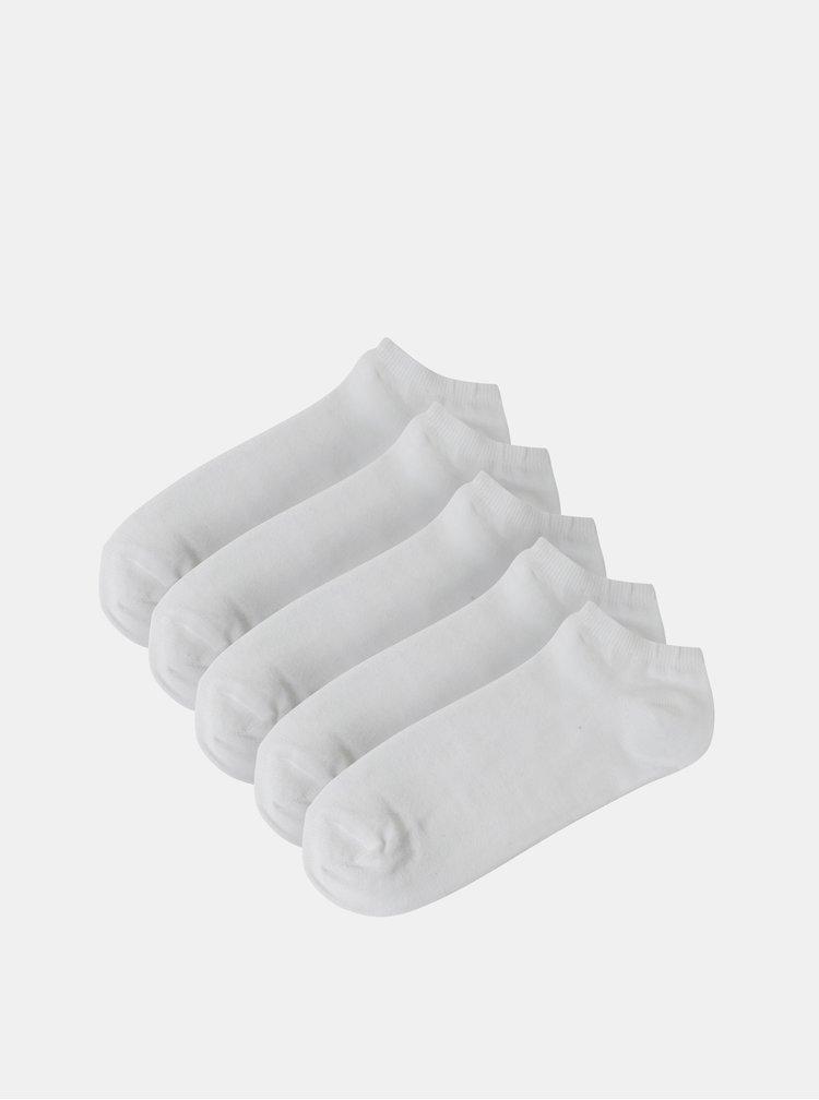 Set de 5 perechi de sosete albe scurte Burton Menswear London