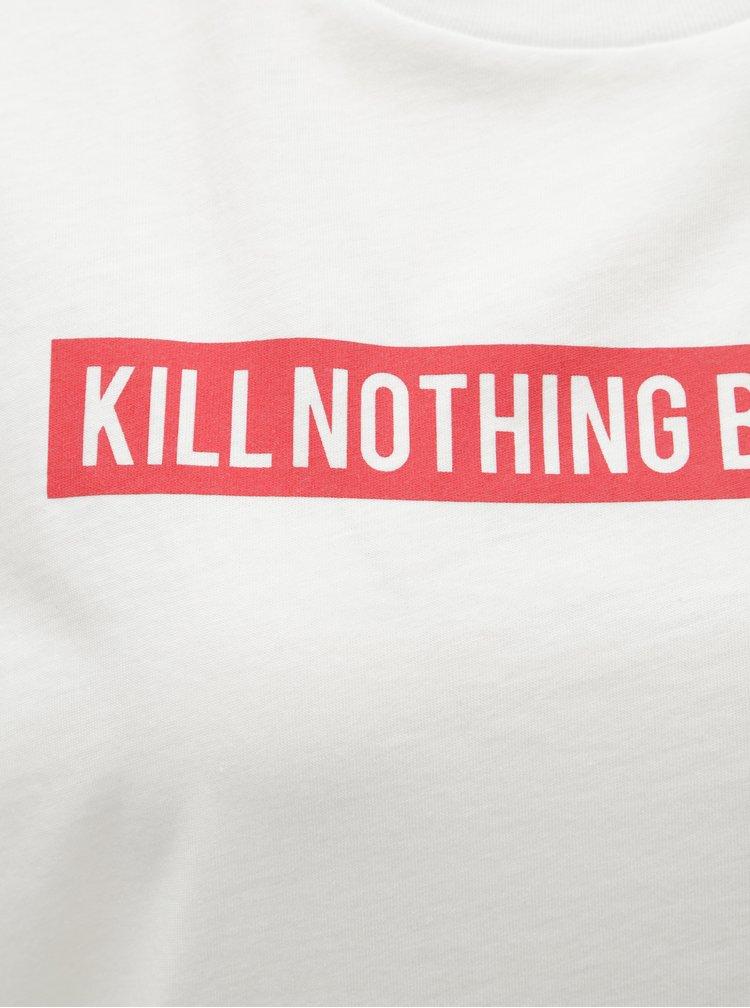Biele tričko s potlačou ONLY Sense