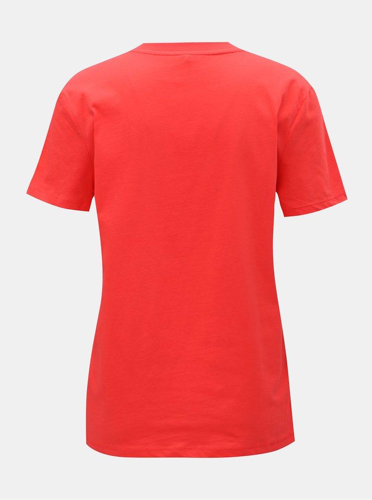 Červené tričko s potiskem ONLY Sense