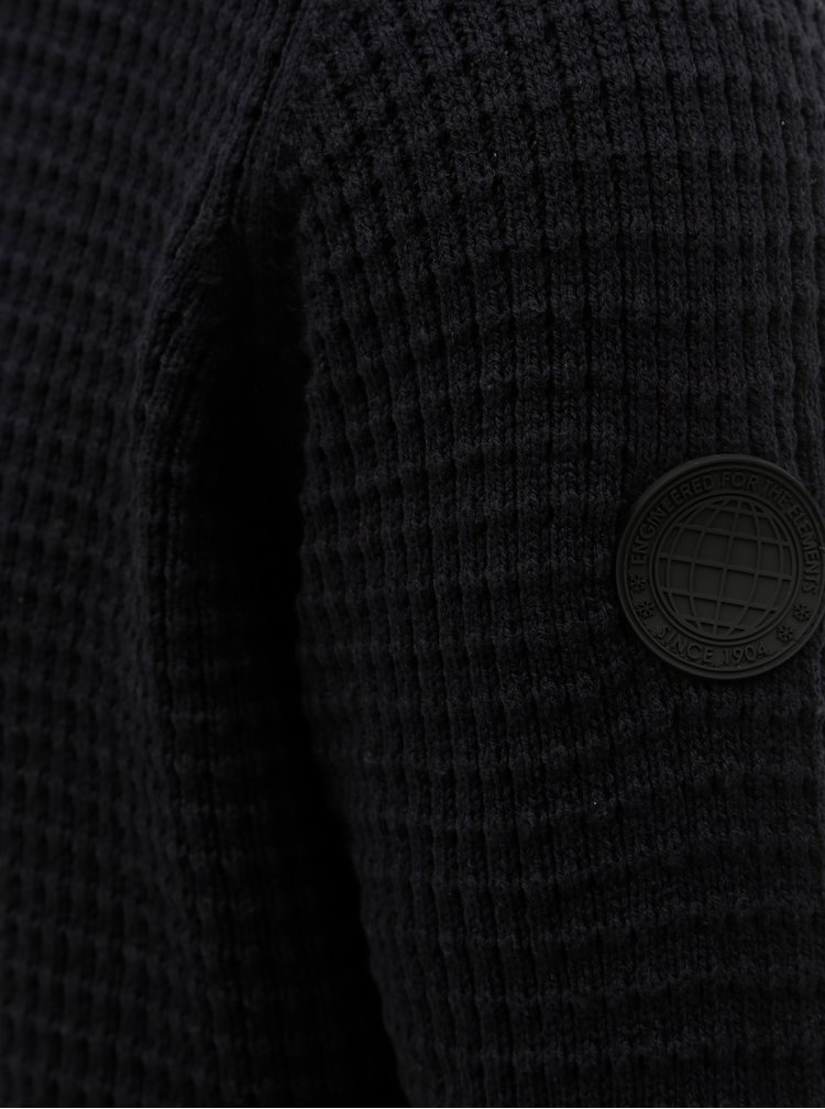 Tmavě modrý svetr se zipem Burton Menswear London