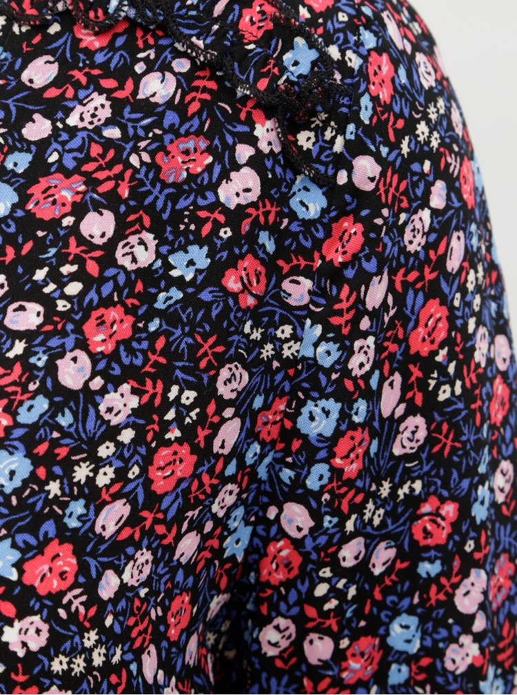 Tmavě modrá květovaná halenka ONLY Maya