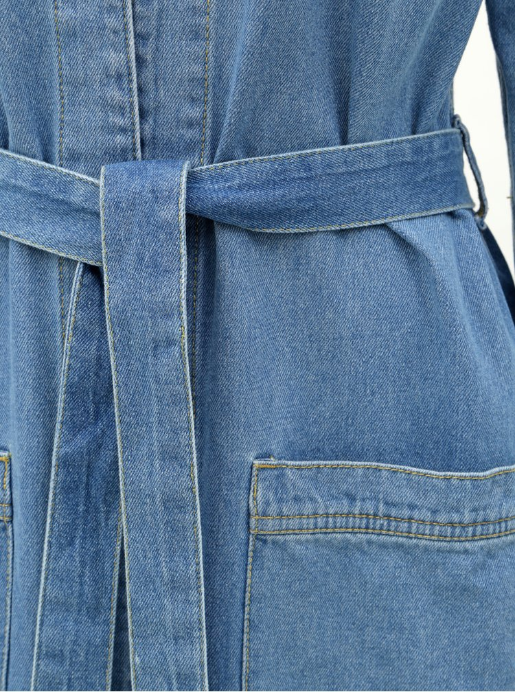 Světle modrý lehký džínový kabát ONLY Happy