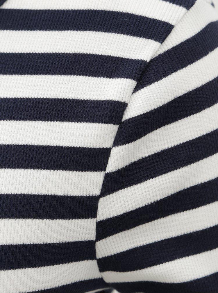 Tricou alb-albastru in dungi ONLY Bella