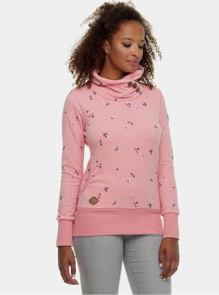 Růžová dámská mikina s potiskem Ragwear Angel