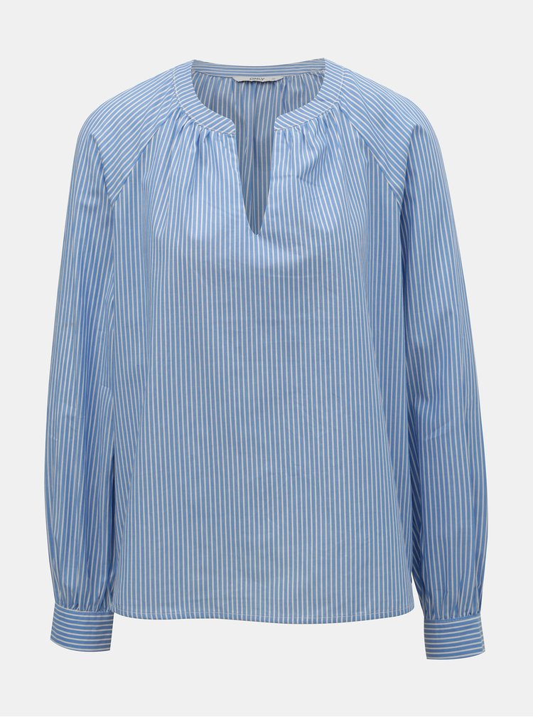 Bluza albastru deschis in dungi ONLY Gila