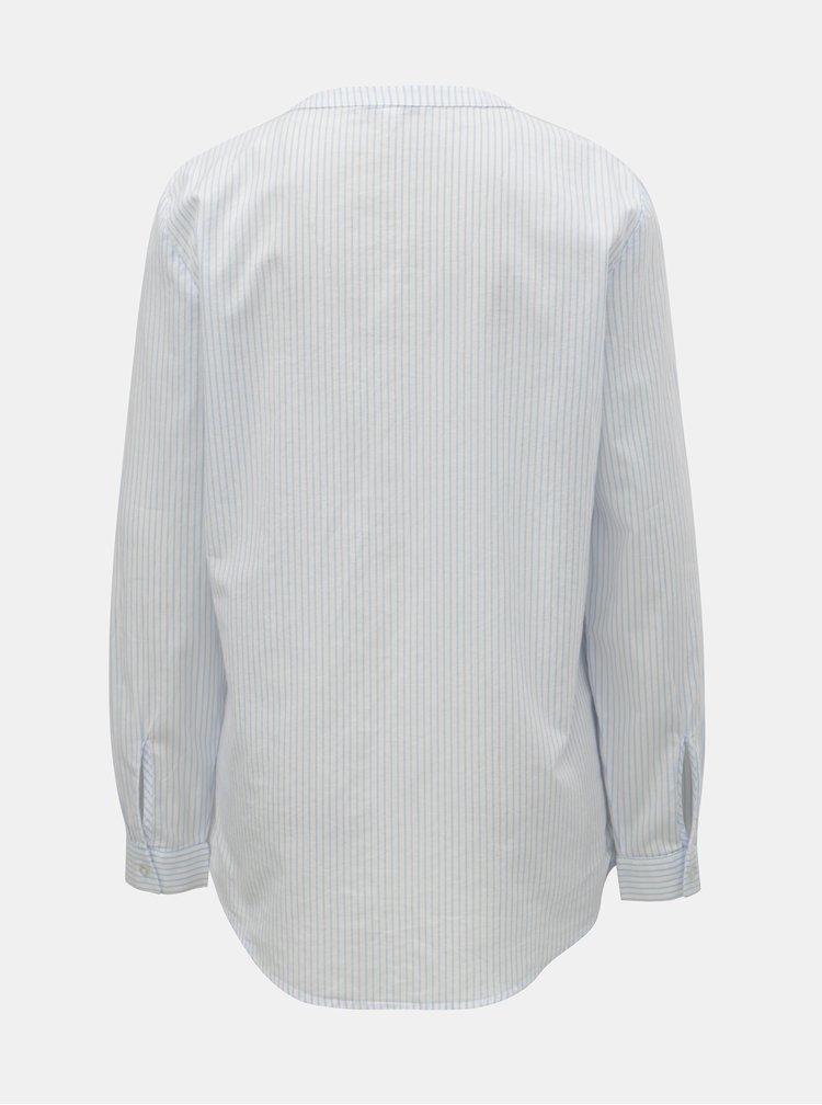 Bílá pruhovaná košile ONLY Fmint