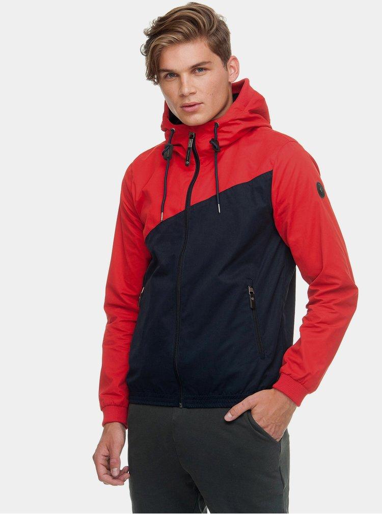 Červeno-modrá pánská bunda Ragwear Nugget