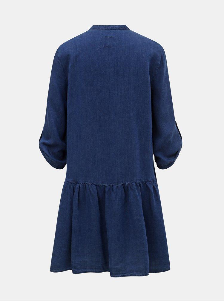 Tmavě modré džínové košilové šaty ONLY Chicago