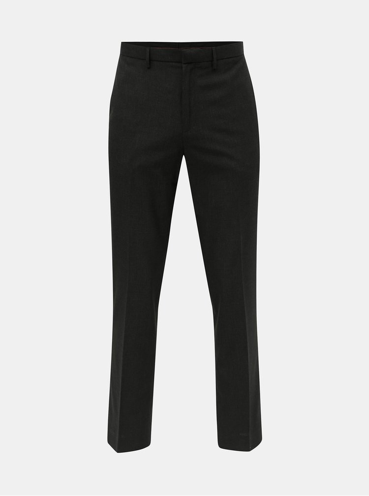 Pantaloni negri in carouri tailored fit Burton Menswear London