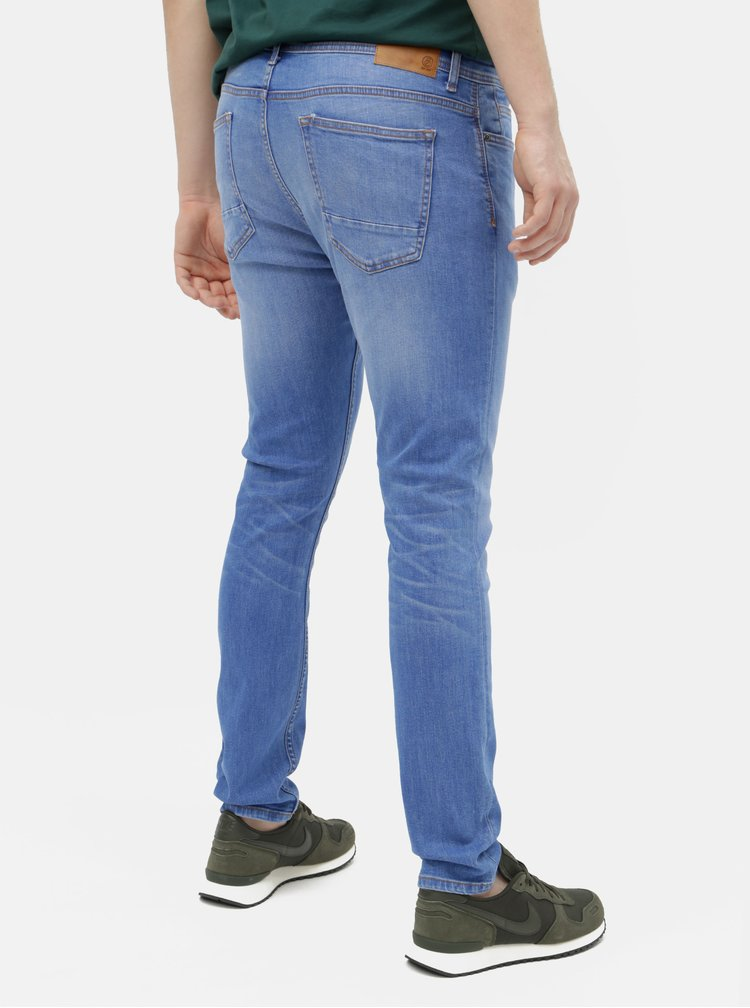 Modré skinny fit džíny Burton Menswear London