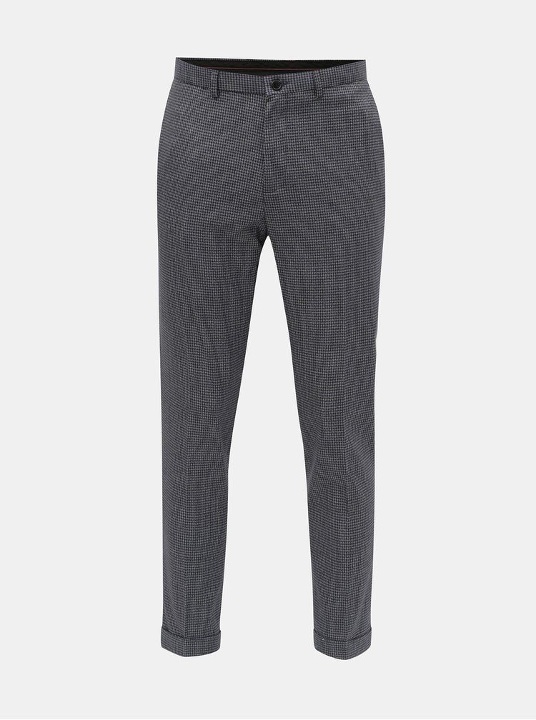 Pantaloni gri in carouri skinny fit Burton Menswear London
