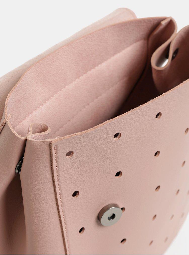 Rucsac roz prafuit perforat Claudia Canova Kalilah