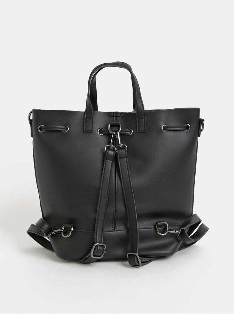Rucsac/Geanta bucket neagra perforata Claudia Canova Danay