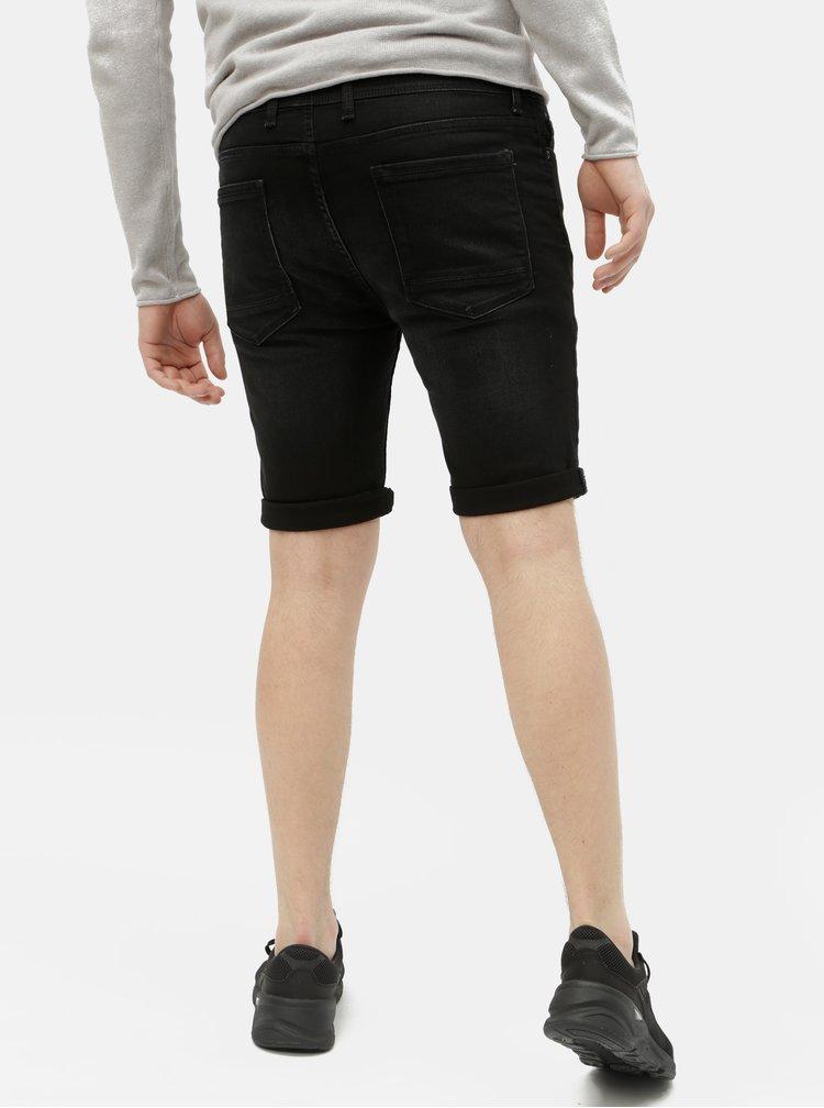 Černé džínové kraťasy Burton Menswear London