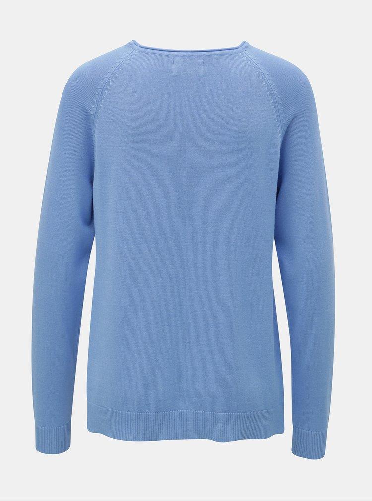 Pulover albastru deschis cu taieturi ONLY New