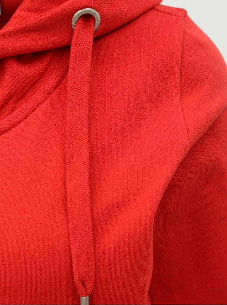 Červená basic mikina ONLY Marbella
