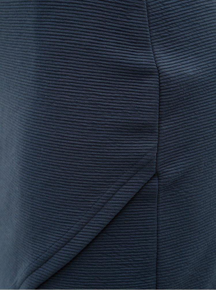 Tmavě modrá žebrovaná pouzdrová minisukně ONLY Floria