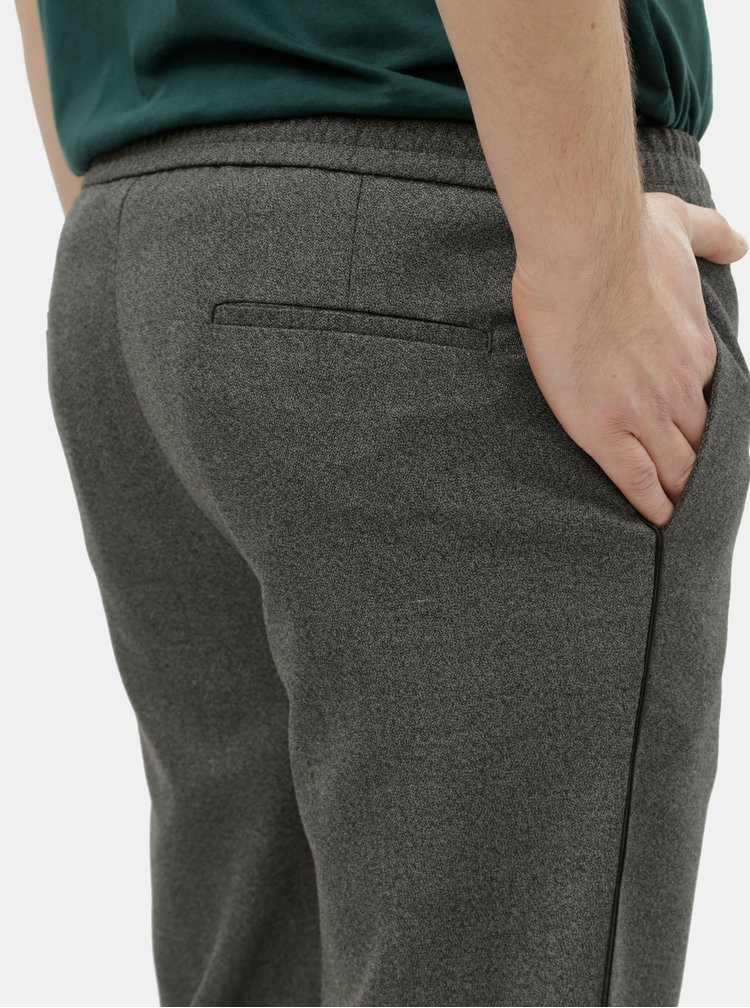 Šedé žíhané slim fit kalhoty Burton Menswear London