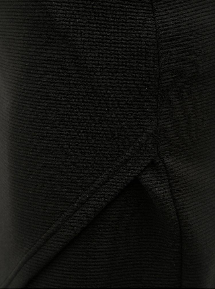 Fusta mini neagra mulata cu striatii ONLY Floria